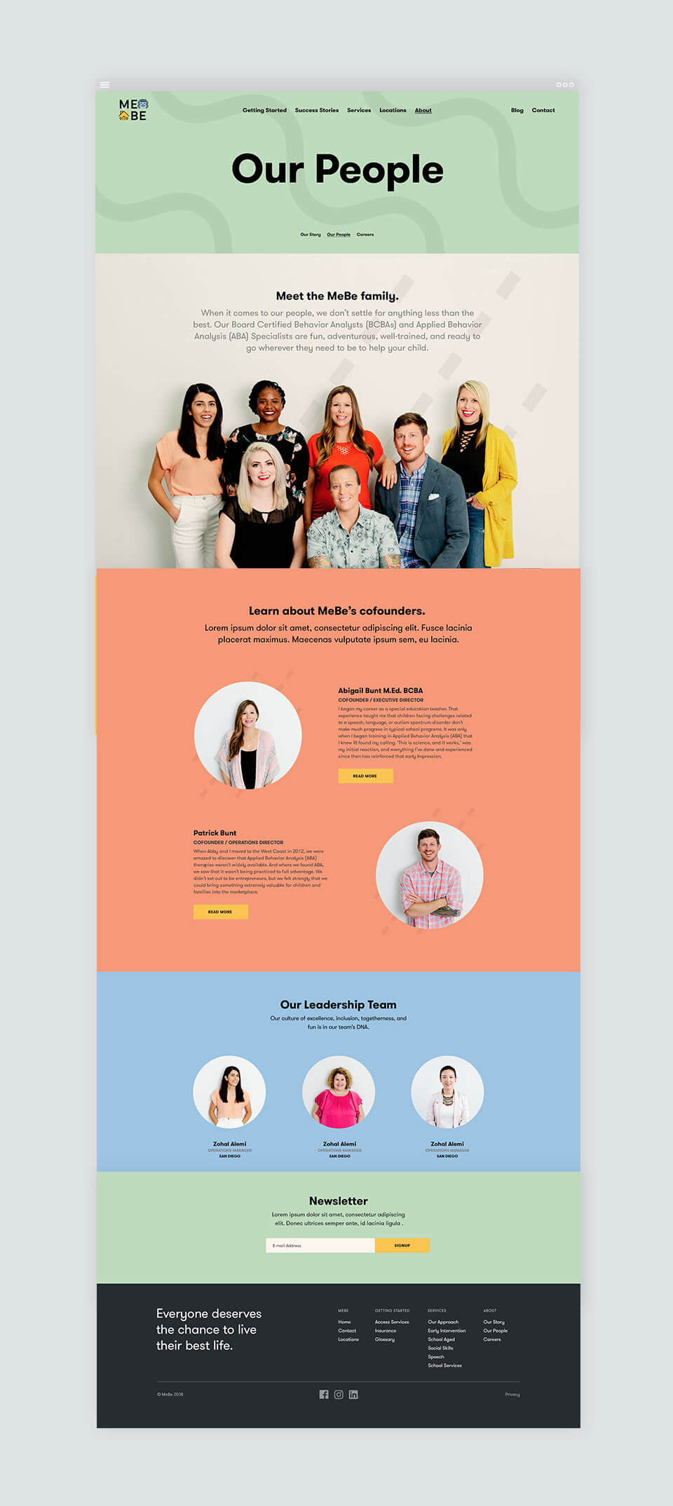 MeBe Website by Motto