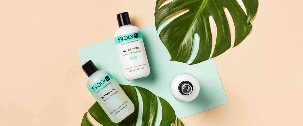 Evolvh hair care branding