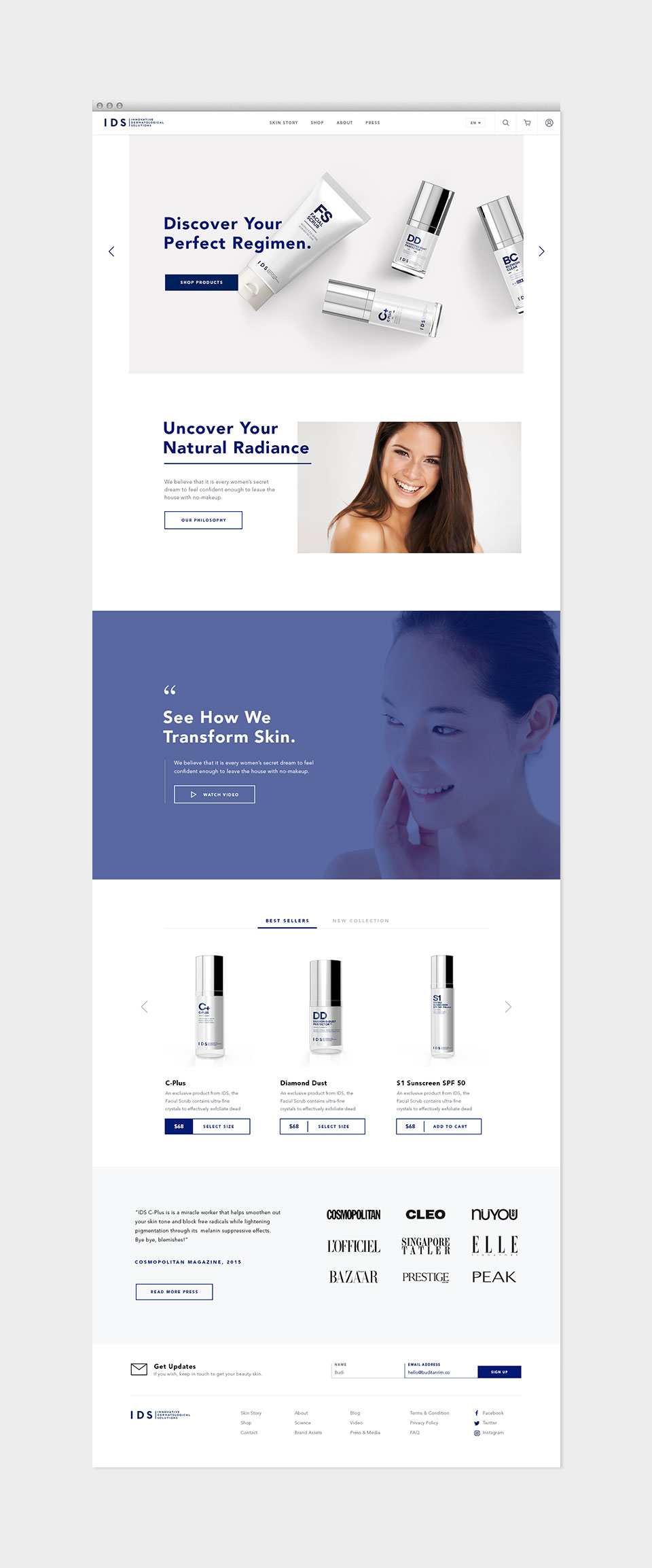 IDS Skincare Branding by Motto