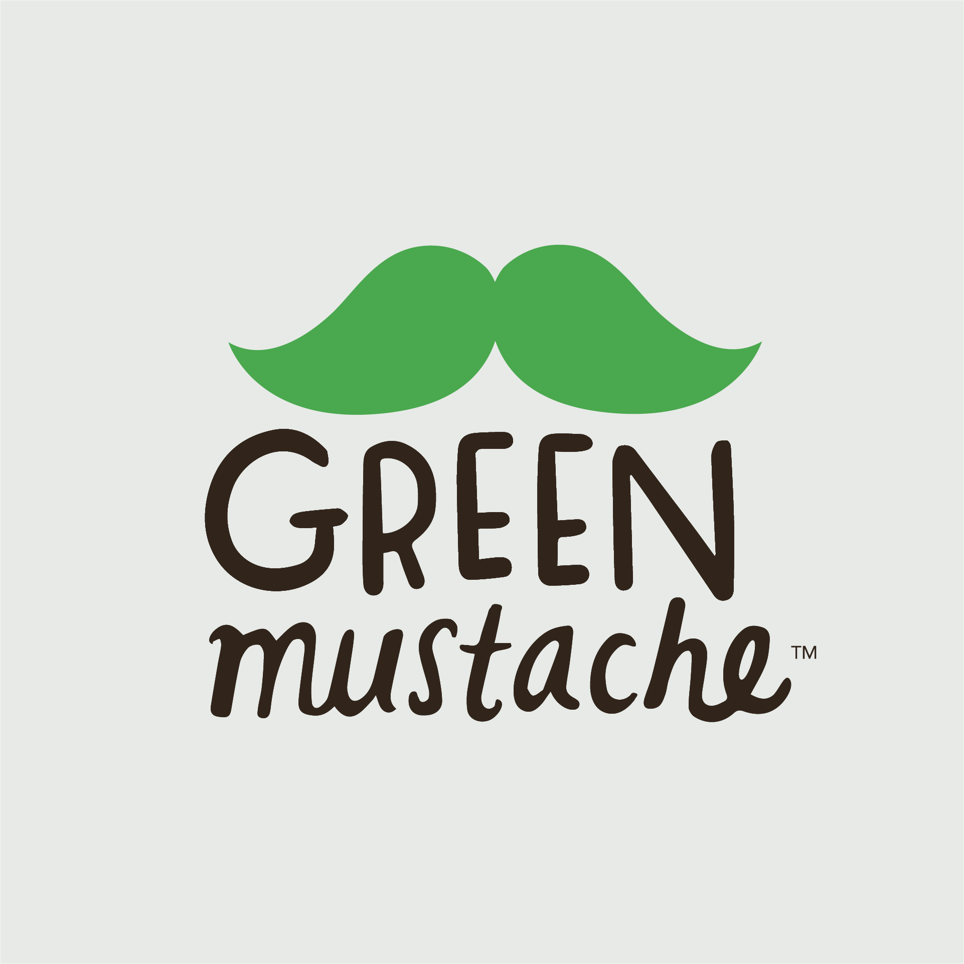 green mustache logo by motto