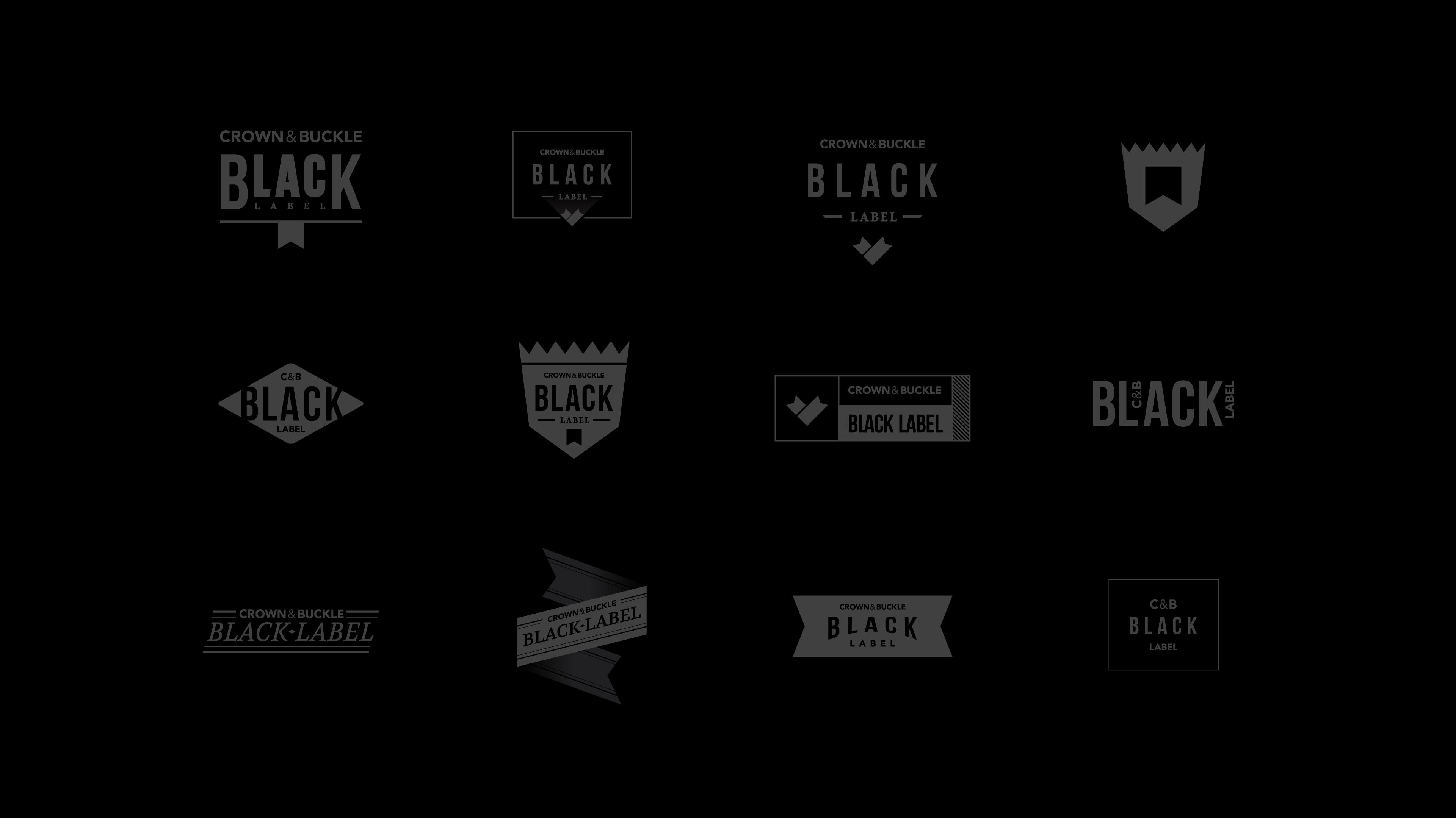 Black Label Crown & Buckle Website by Motto