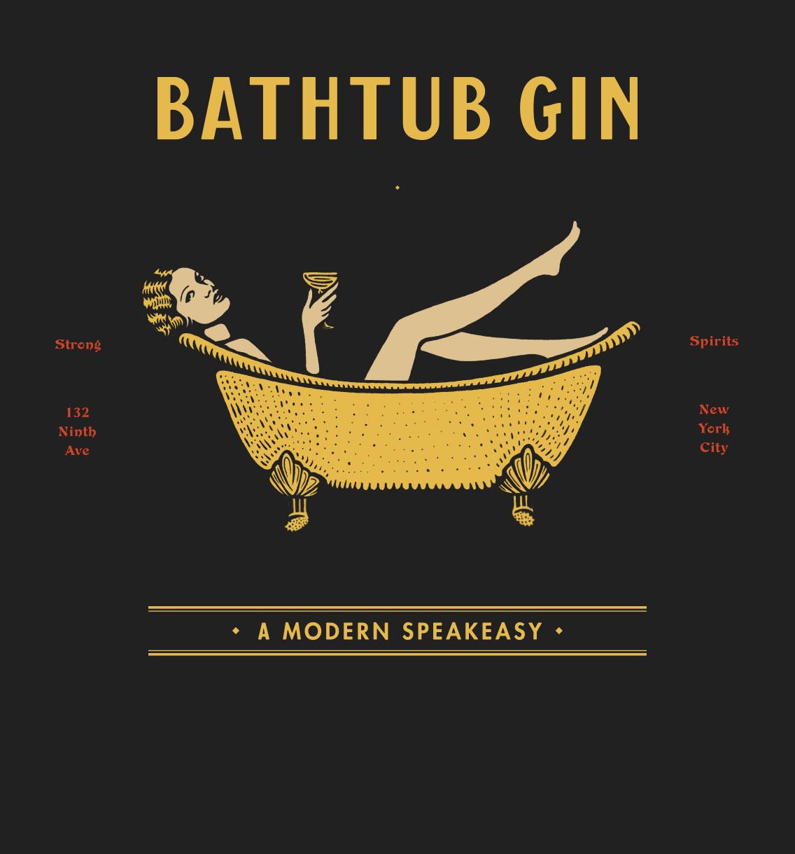 bathtub gin branding