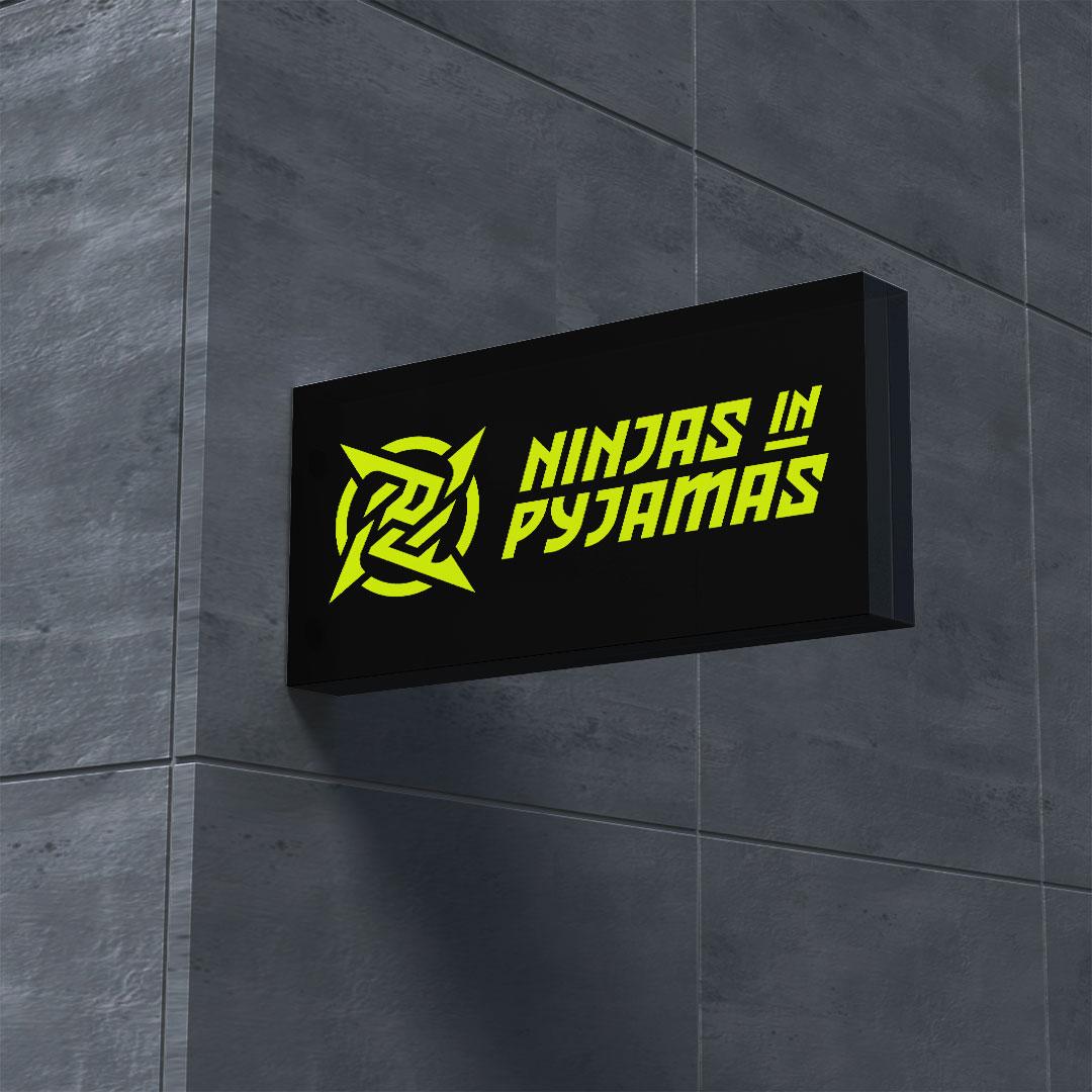 ninjas in pyjamas signage